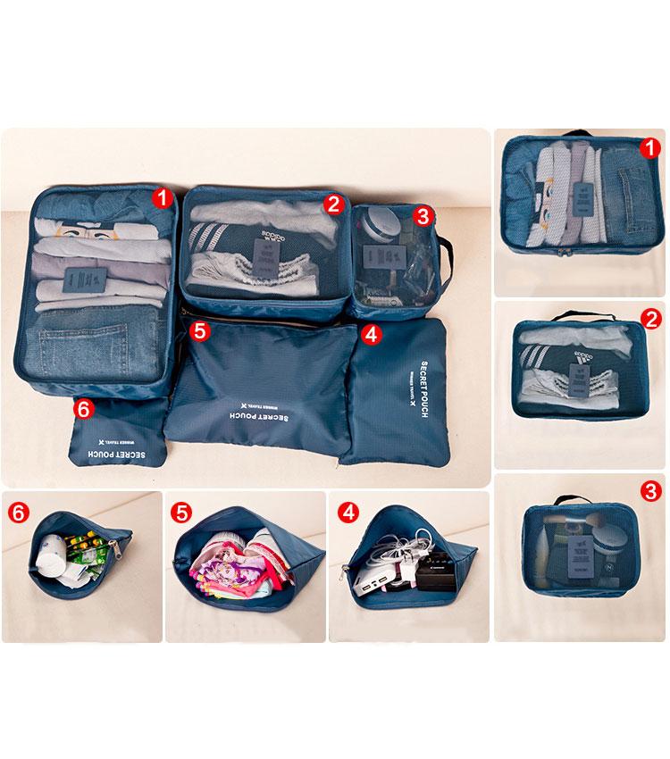 Набор сумок для чемодана Emkertion SP-6 night blue