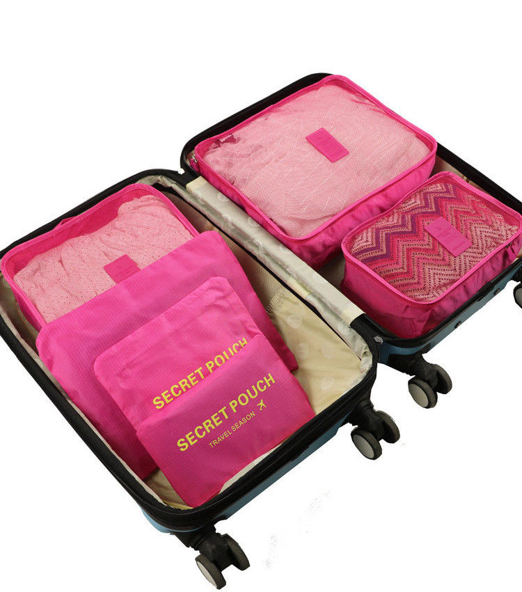 Набор сумок для чемодана Emkertion SP-6 pink
