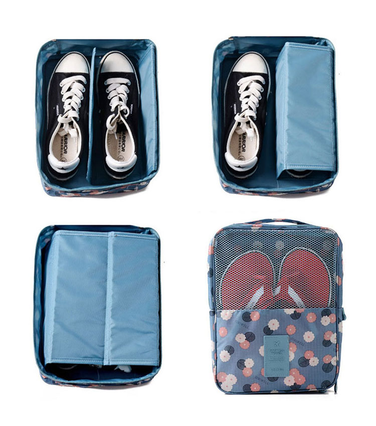 Сумка для обуви Emkertion shoes-1 flowers blue
