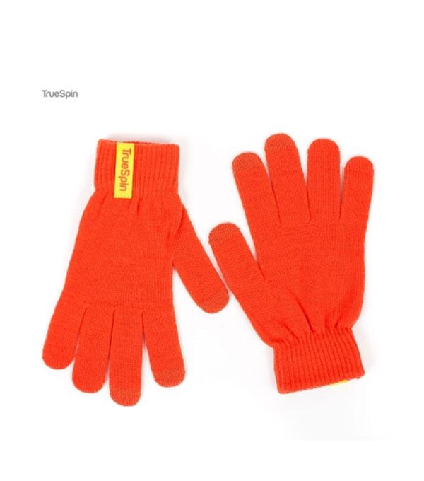 Перчатки для сенсорных устройств TrueSpin orange