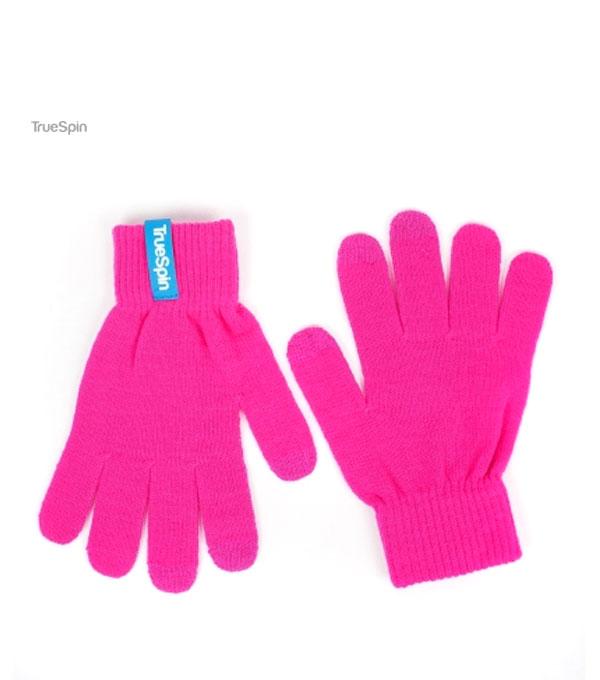 Перчатки для сенсорных устройств TrueSpin pink