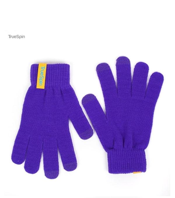 Перчатки для сенсорных устройств TrueSpin purple